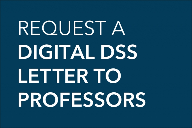 Request a Digital DSS Letter to Professors