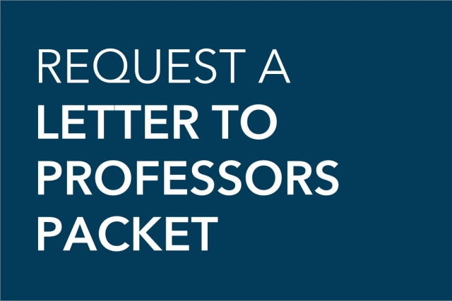 Request a letter to professors packet