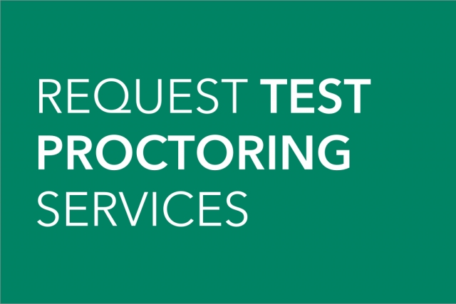 Request test proctoring services